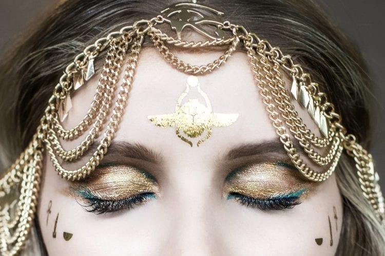 eye of horus liquid metals alchemy gold teal