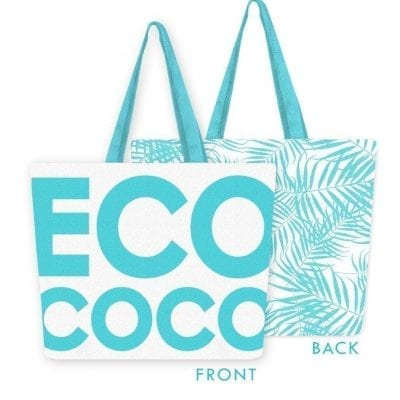 eco coco canvas beach bag