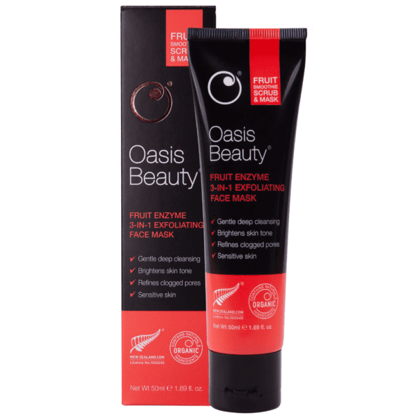 oasis beauty fruit smoothie scrub and maskq