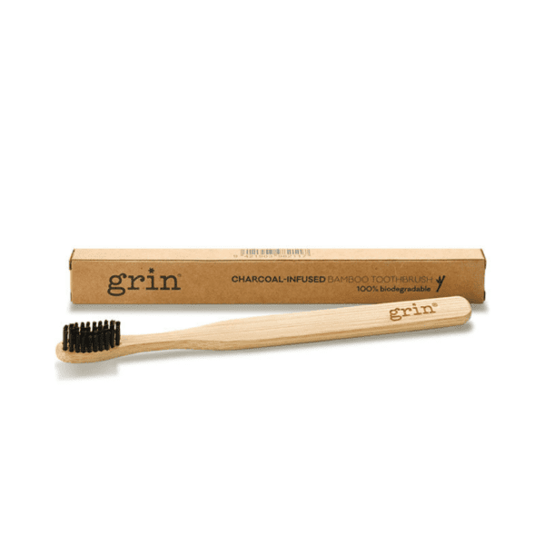 grin charcoal toothbrush