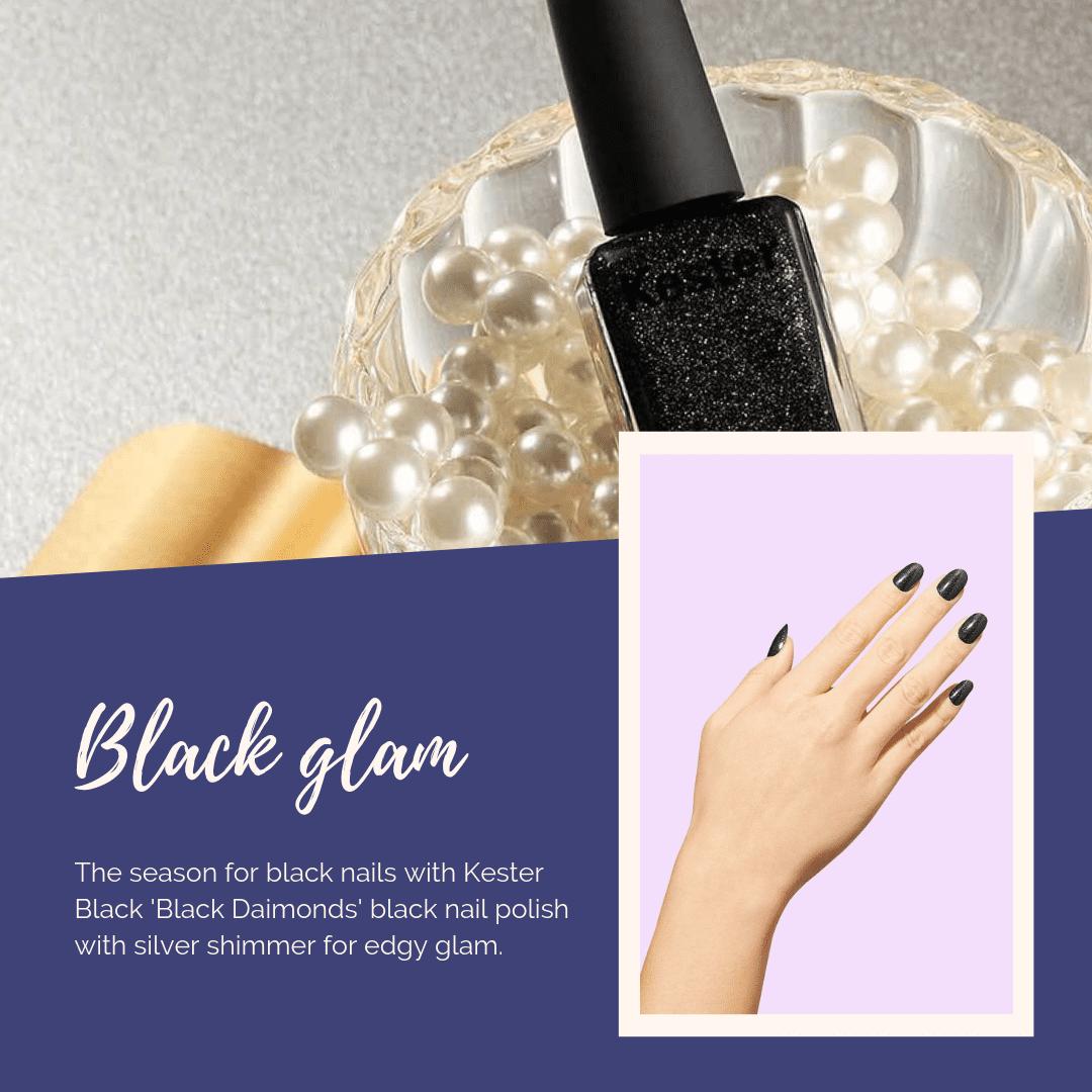 Cruelty-free black diamonds nail polish