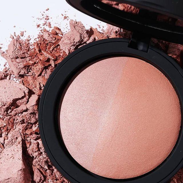 Inika Organic Baked Mineral Blush Duo - Burnt Peach